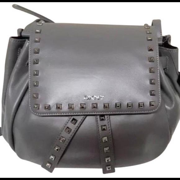 fe29c2651bcd NWT DKNY Grey Leather Bag